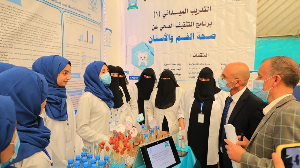 نائب رئيس الجامعة يفتتح معرض التدريب الميداني لطالبات المستوى الثاني طب عام وجراحة